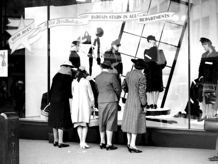 Shoppers at David Jones' Sydney store on 30 May 1942.