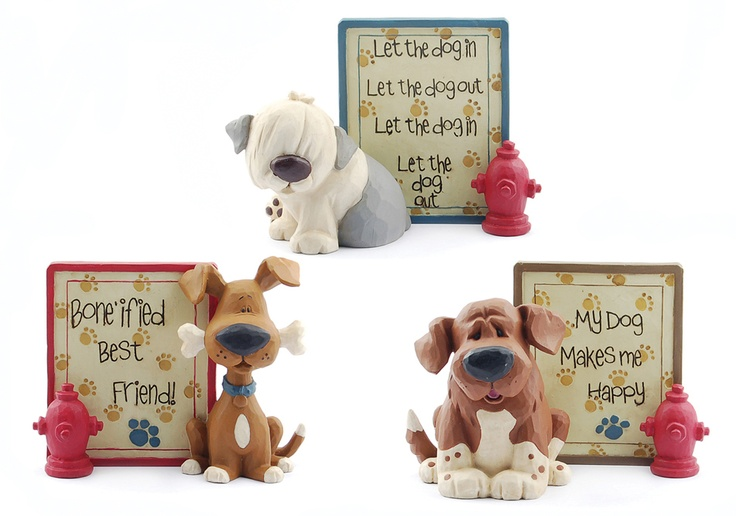 Set of 3 Dog Plaques with Hydrants  $26.97