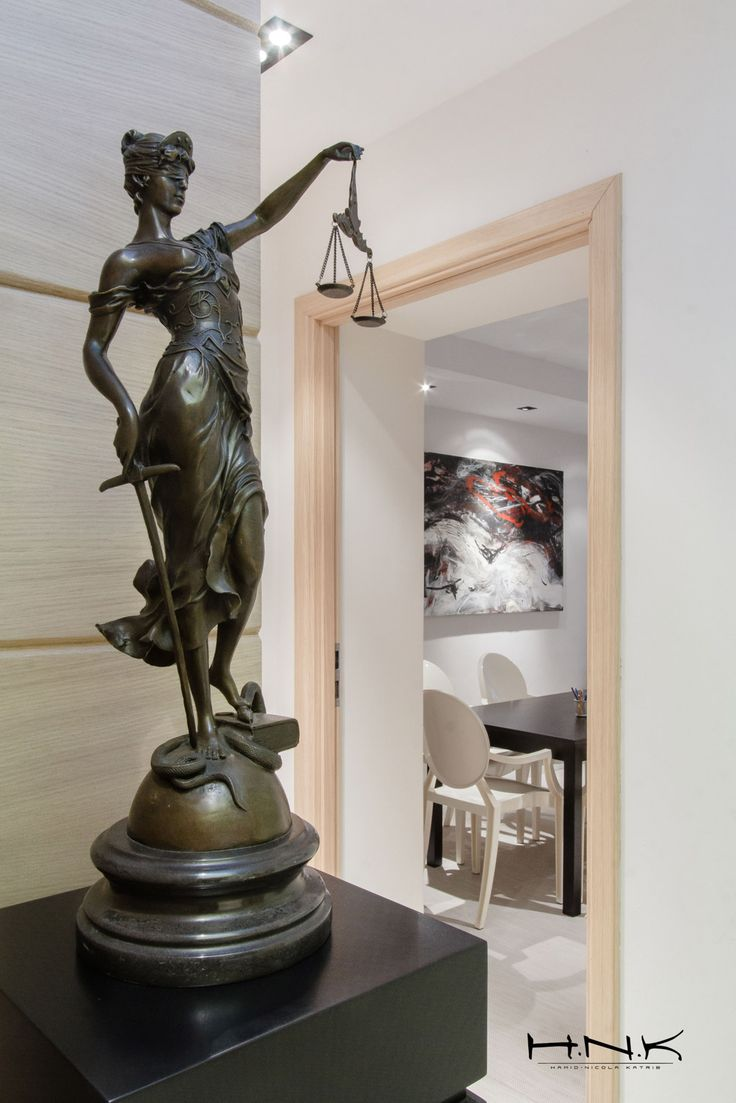 Themis, Lady Justice facing the entry hall @ notary office | by Hamid Nicola Katrib