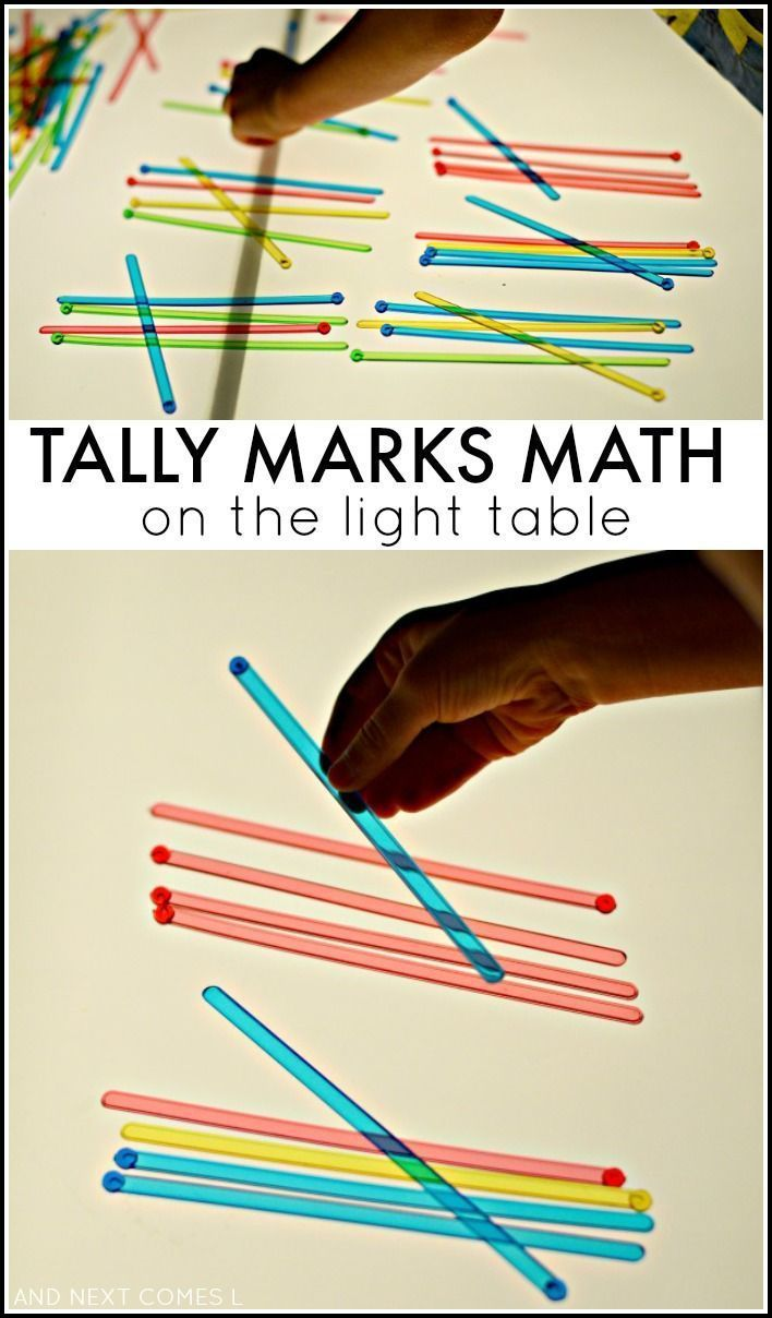 Tally Marks Math on the Light Table | Numbers and Counting ...