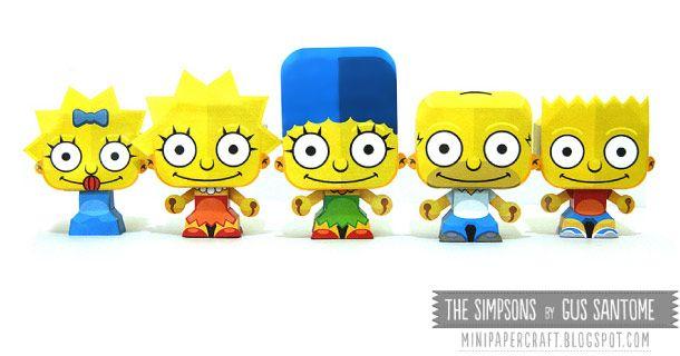 pépites parmi les pépites : 5 paper toys des Simpsons par Gus Santome !...