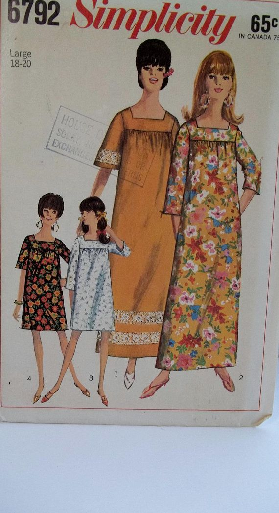 McCalls Sewing Patterns 6792 Misses Dress /& Tops Size 16-24