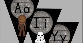 FREE Star Wars Alphabet Pennant - toddler, preschool, prek, kindergarten age kids will have fun learning their letters with these fun alphabet wall cards. LOVE!!