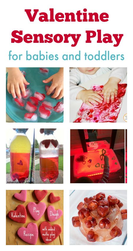 Valentine sensory play for babies and toddlers :: valentines day activities