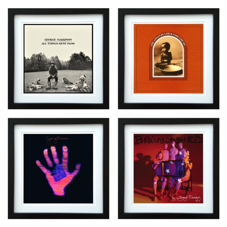 George Harrison | Framed Album Art Set of 4 Images | ArtRockStore