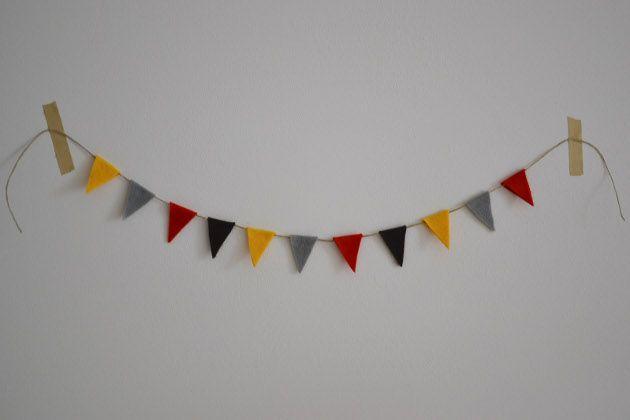 DIY - vlaggetjeslijn / slinger maken