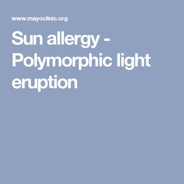 Sun allergy - Polymorphic light eruption