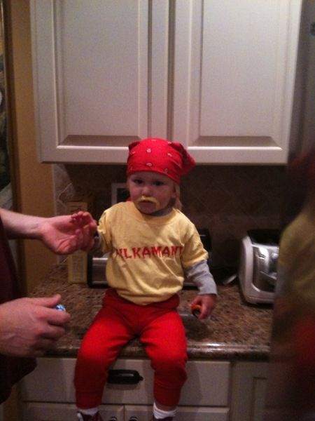 Coops Costume this Year!! LOVE IT! Dollar Store Crafts » Blog Archive » 9 Cute Baby Costumes