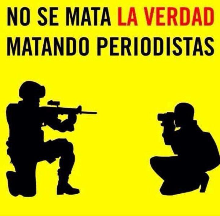 En honor a los recientes hechos ocurridos en Mexico y por todos los periodistas caidos!