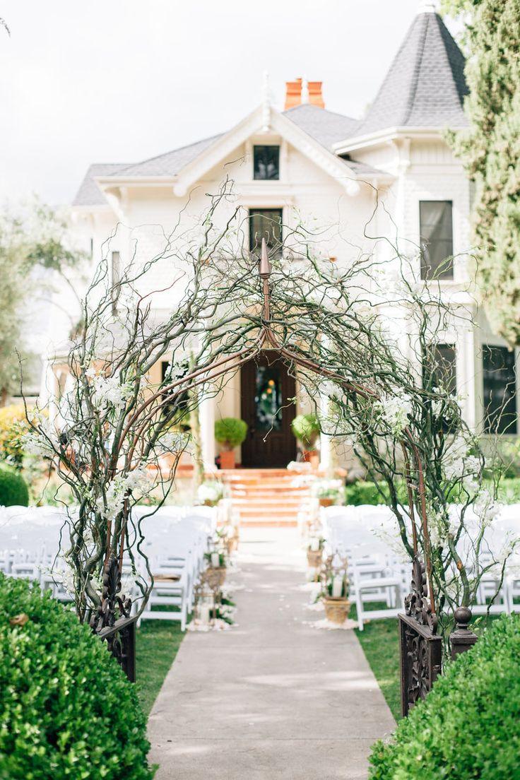 Unique Wedding Arch Park Winters Wedding | Wedding Branch Ideas