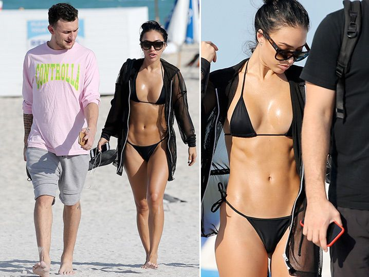 Johnny Manziel Hits the Beach with SMOKIN' HOT Lady Friend (PHOTO GALLERY)