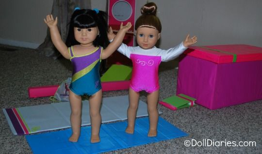 DIY folding gymnastics mat for McKenna and your AG dolls plus free printable for McKenna's conditioning workout