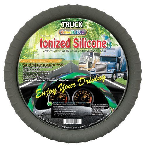 """New Silicone Semi-Truck Gray Steering Wheel Cover with Negative Ion Fits 16""""17""""18""""19"""" Steering - http://www.caraccessoriesonlinemarket.com/new-silicone-semi-truck-gray-steering-wheel-cover-with-negative-ion-fits-16171819-steering/  #16171819, #Cover, #Fits, #Gray, #Negative, #Semitruck, #Silicone, #Steering, #Wheel #Truck, #Truck-Wheels"""