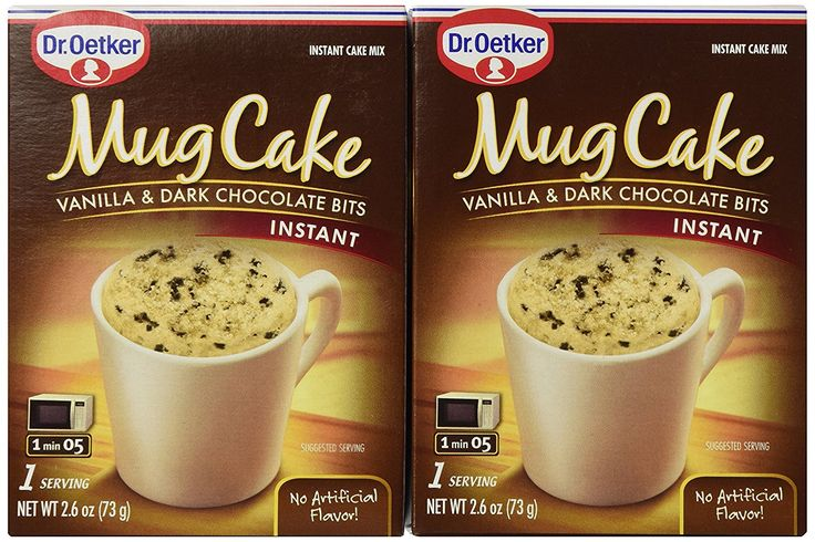 Dr. Oetker Mug Cake Vanilla and Dark Chocolate Bits Instant Cake Mix (2 Count Pkg) >>> Click now. Unbelievable product right here! - Fresh Groceries
