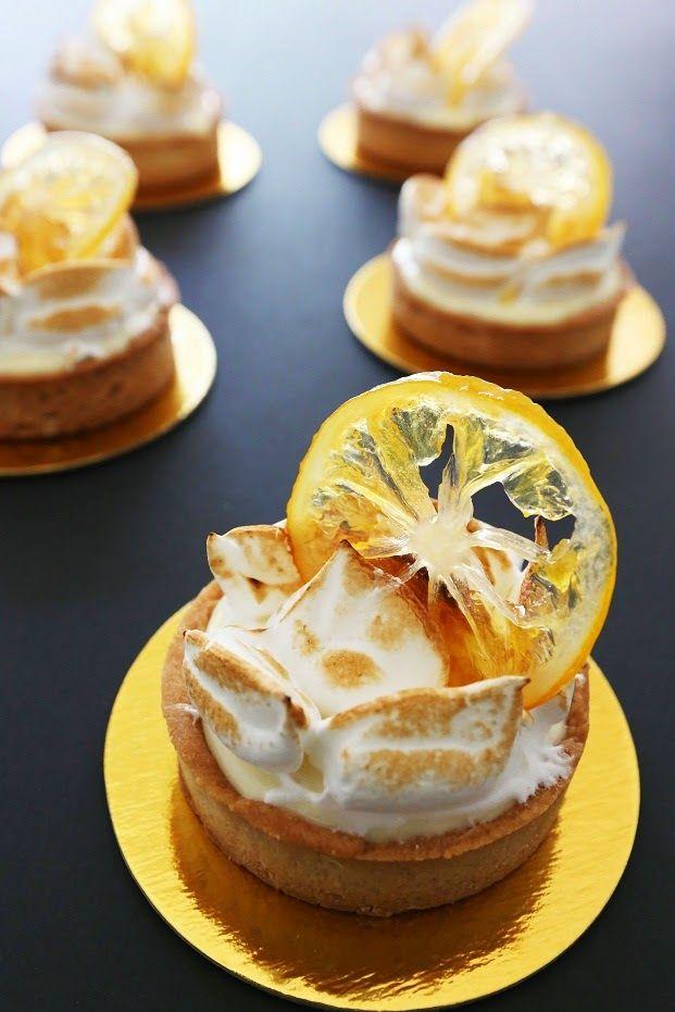 Meyer Lemon Tart with candied lemon and peel