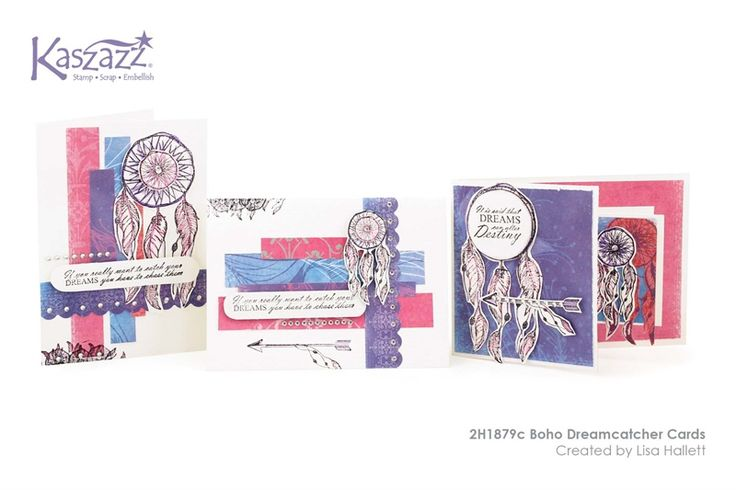 2H1879c Boho Dreamcatcher Cards