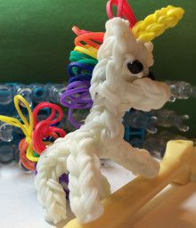 UNICORN-but this page has tons of things to make with rubber bands besides bracelets!