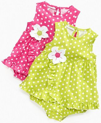 First Impressions Baby Dress, Baby Girls Polka Dot Sunsuit