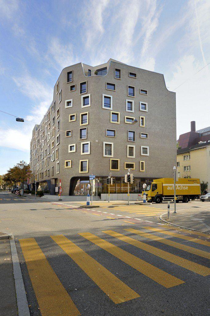 Camenzind Evolution have completed a new apartment building in Zurich, Switzerland.
