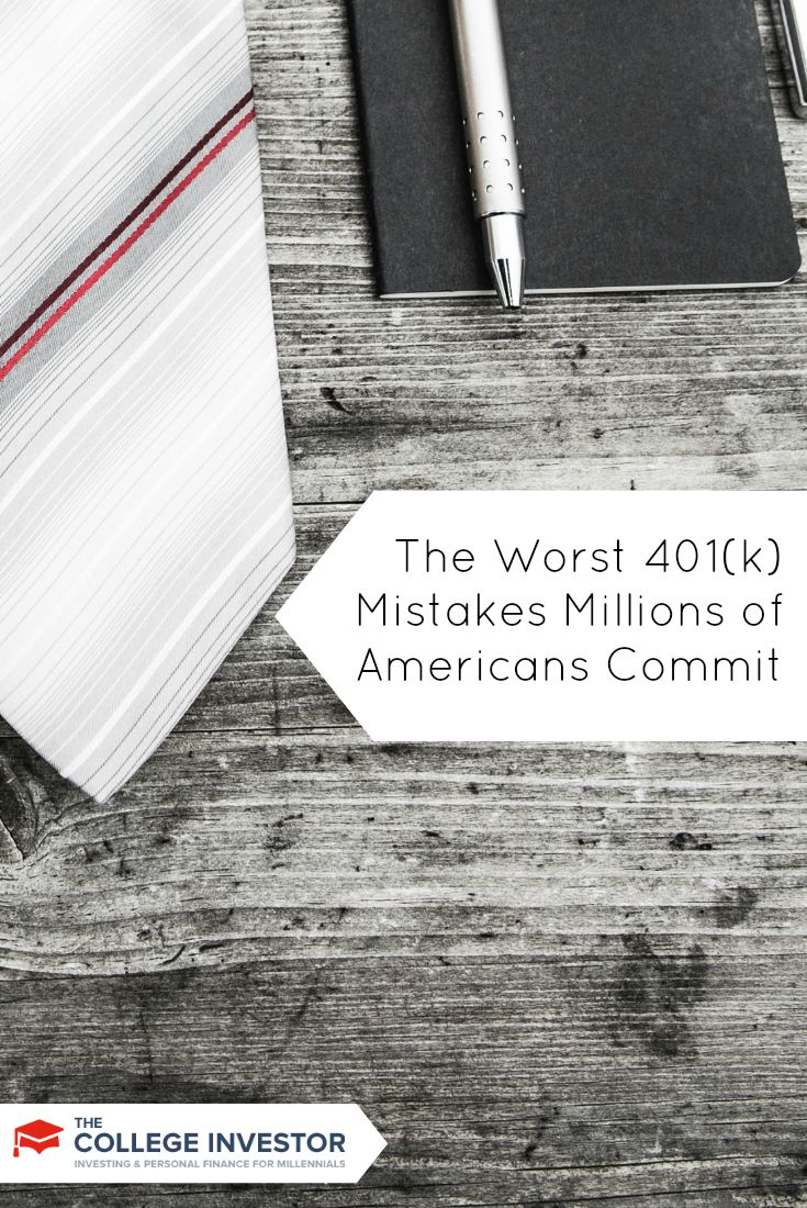 Here are some of the worst 401(k) mistakes that are being committed by millions of Americans every year, potentially costing billions. via @collegeinvestor