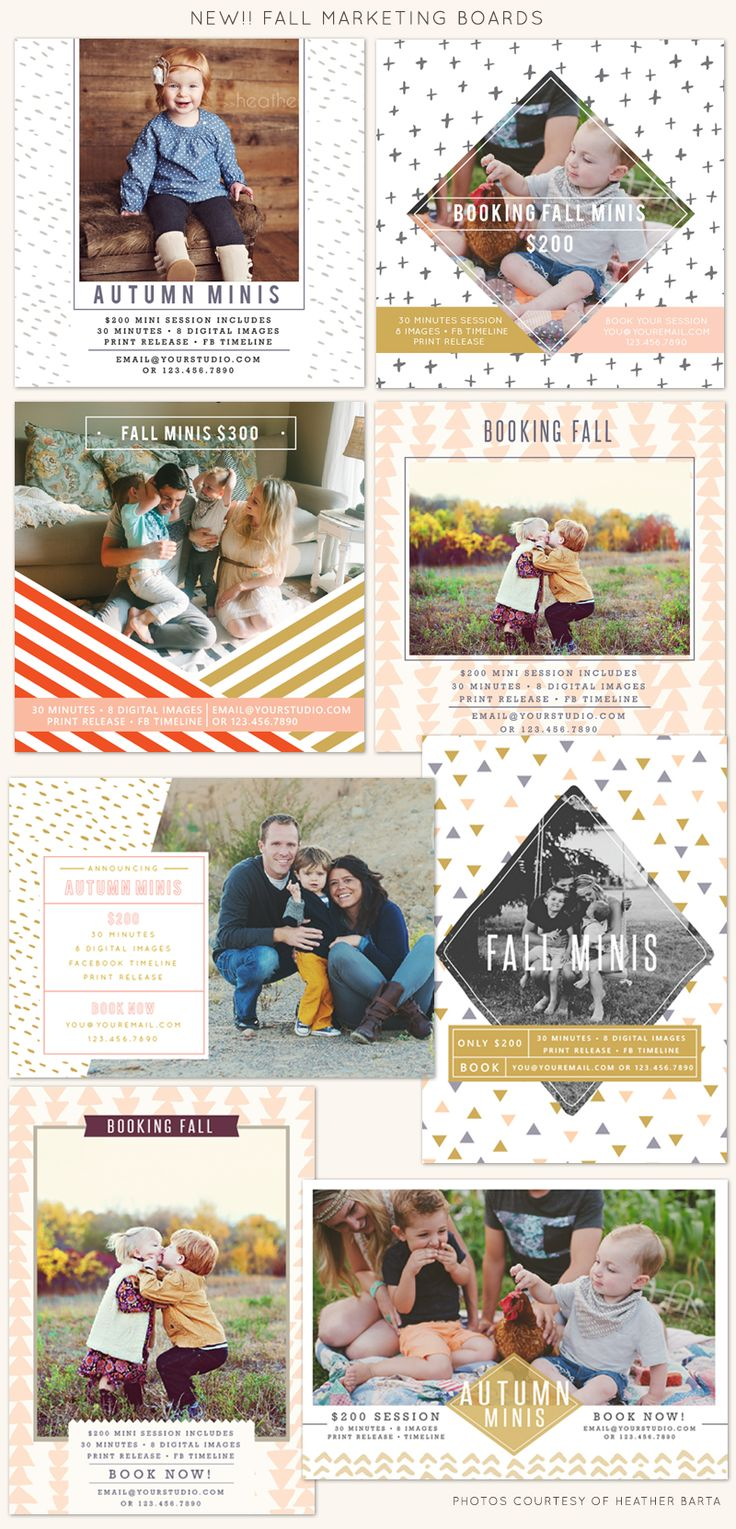 Booking fall mini sessions   Photoshop templates for photographers by Birdesign - freebies blog