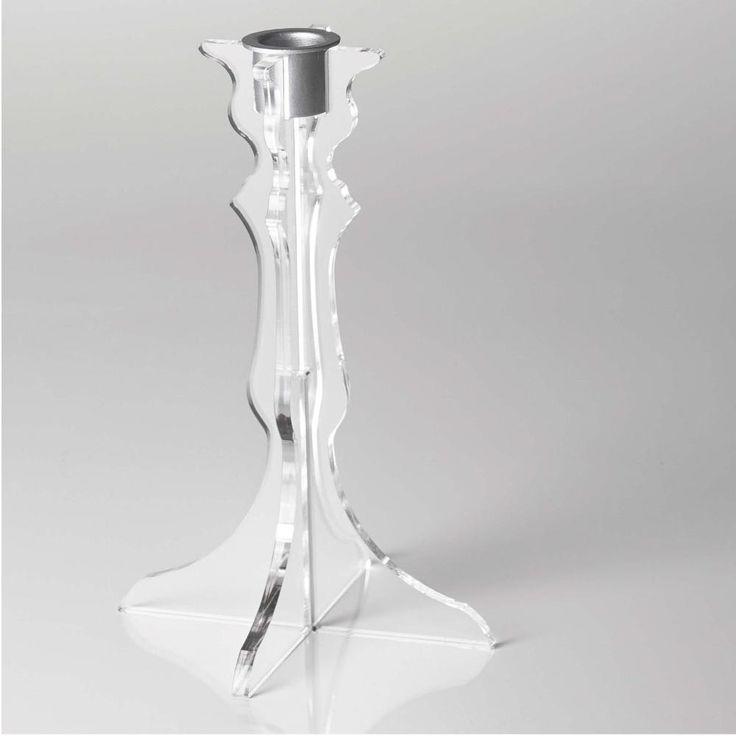 Candeliere 1 posizione Like Water 14x6.5xh22.5 cm in Plexi trasparente | Vesta | Stilcasa.Net: candele e porta candele