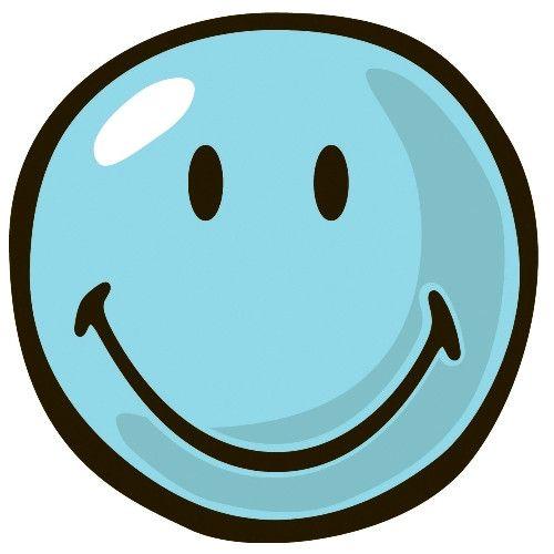 Fun Rugs Smiley World Blue Smiley Kids Rug