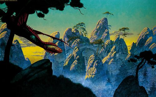 Hunting Dragon by Roger Dean
