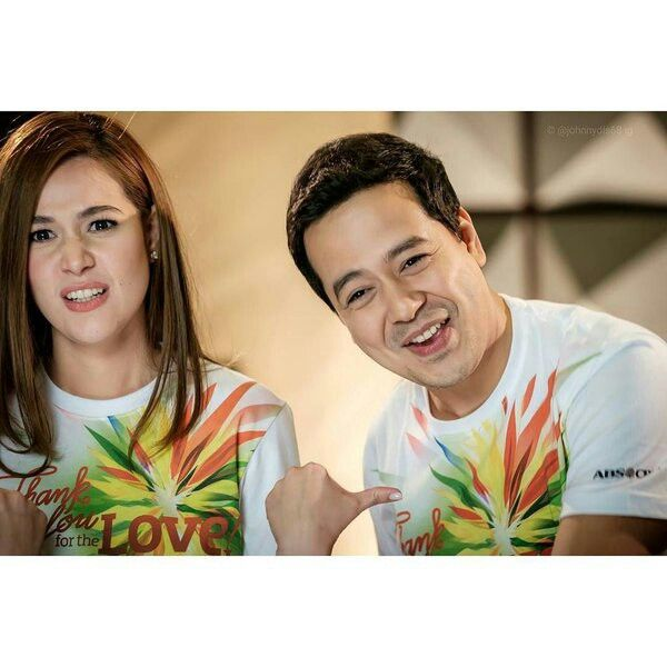 "This is the pretty Bea Alonzo and the handsome John Lloyd Cruz smiling for the camera wackily while getting themselves for a promotion of their upcoming movie, ""A Second Chance"" during the taping of the ABS-CBN 2015 Christmas Station ID theme song, ""Thank You for the Love!"" Indeed, John Lloyd and Bea are proud Kapamilya talents and amazing Star Magic talents. They're also kind and helpful. #JohnLloydCruz #BeaAlonzo #PopoyandBasha #ASecondChance #ABSCBNChristmasStationID #ThankYoufortheLove"