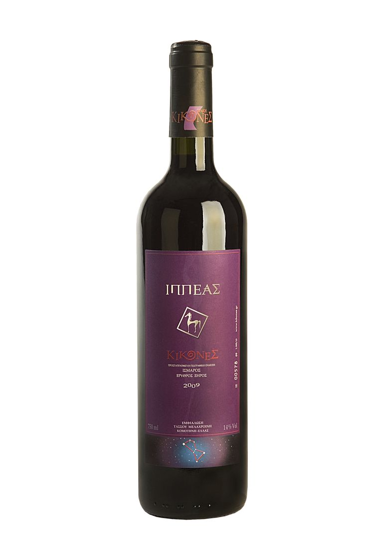 Ippeas Kikones Ippeas means horserider Cab. Sauvignon 60% - Merlot 40% A tribute to Bordeaux with a twist. Plums, elegant tannins, long finish... No crasher, hand pigeage method, 12 months in oak barrels, Bottled unfined/unfiltered.
