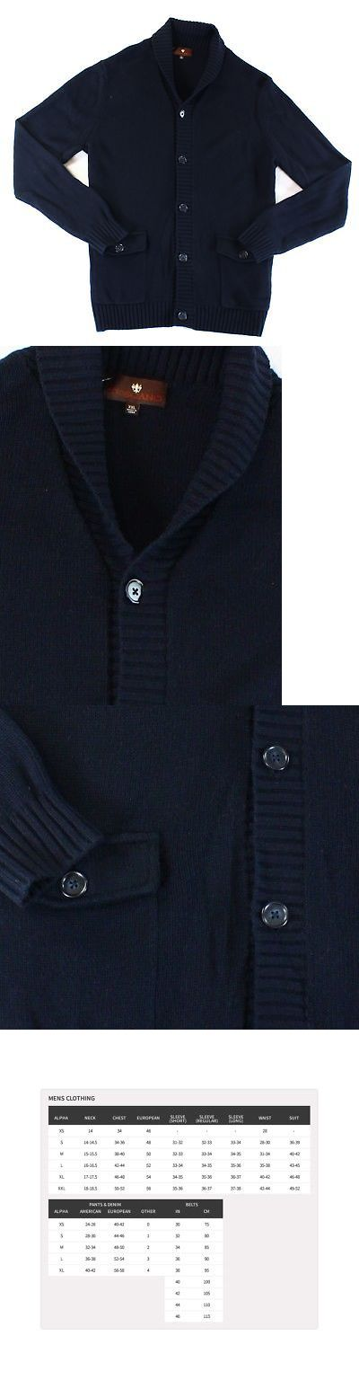 Sweaters 11484: Toscano New Blue Mens 2Xl Shawl Collar Cardigan Wool Knit Sweater $185 #615 -> BUY IT NOW ONLY: $64.97 on eBay!