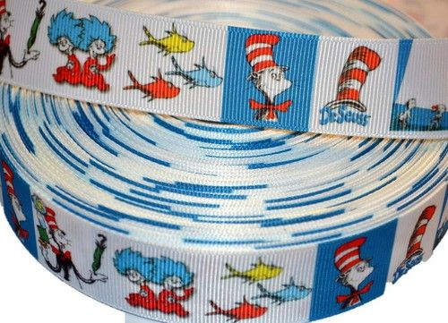 "Cats wearing Hat Cartoon Inspired 1"""" Lovely Grosgrain Ribbon"