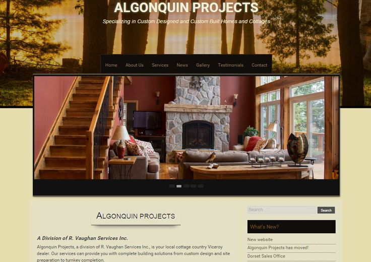 Algonquin Projects - customized, responsive WordPress theme