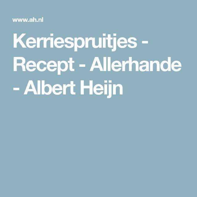 Kerriespruitjes - Recept - Allerhande - Albert Heijn