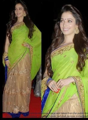 Ved Deal's Bollywood Replica Heavy Green Designer Saree Bollywood Sarees Online on Shimply.com