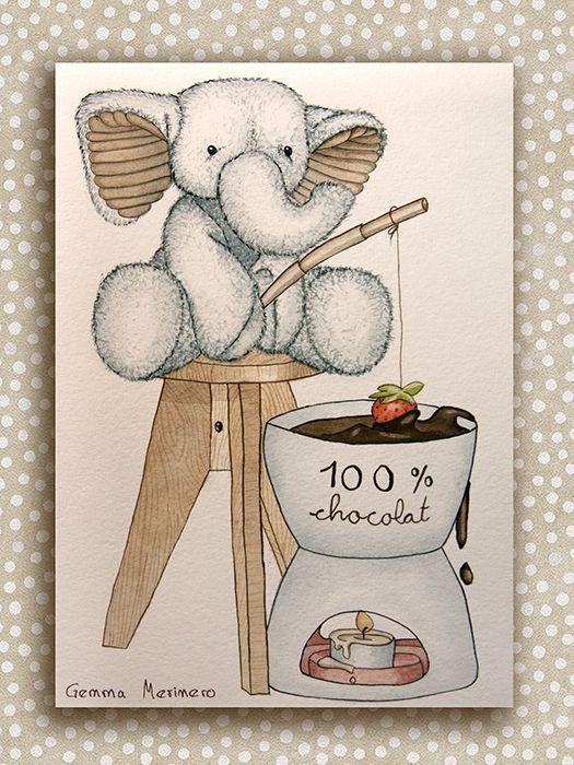 Elefante con fondue. (Gemma Merinero)