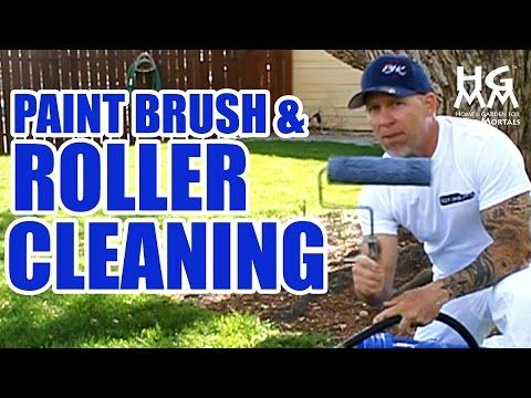 How to clean paint brushes and rollers. The quick and effective way! - YouTube
