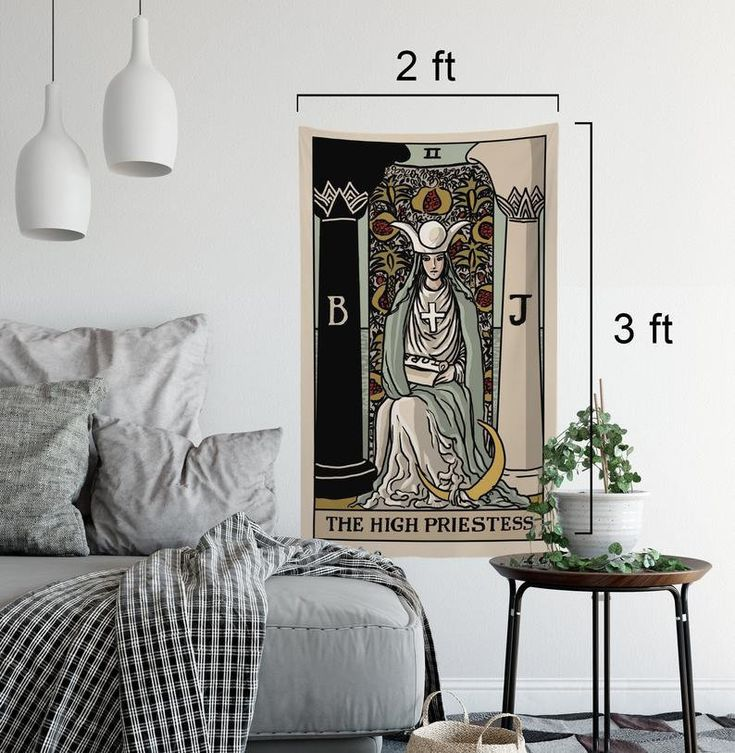 Minor arcana tarot card tapestry full size uncropped card