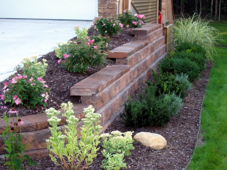Best 25 inexpensive retaining wall ideas ideas on for Cheap landscaping
