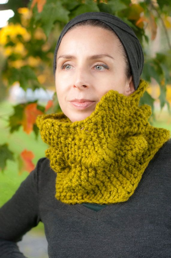NEW Cactus Cowl HandKnit 3D Spiky Texture