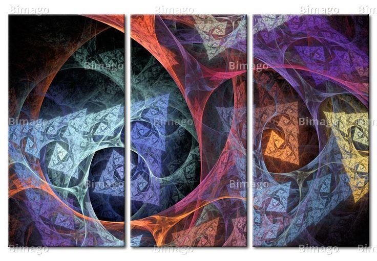 Abstraction originale pleine de couleurs sur tableau grand format www.bimago.fr/tableaux-xxl.html
