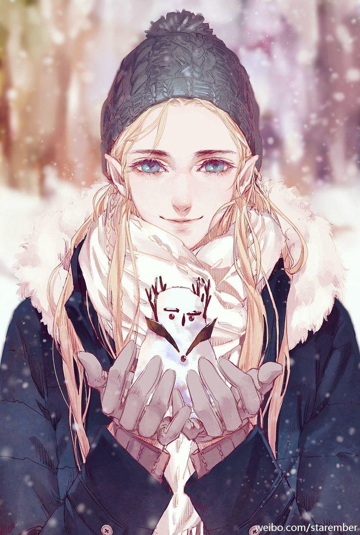 Legolas, AU << the grumpy the thranduil snowman is my favorite