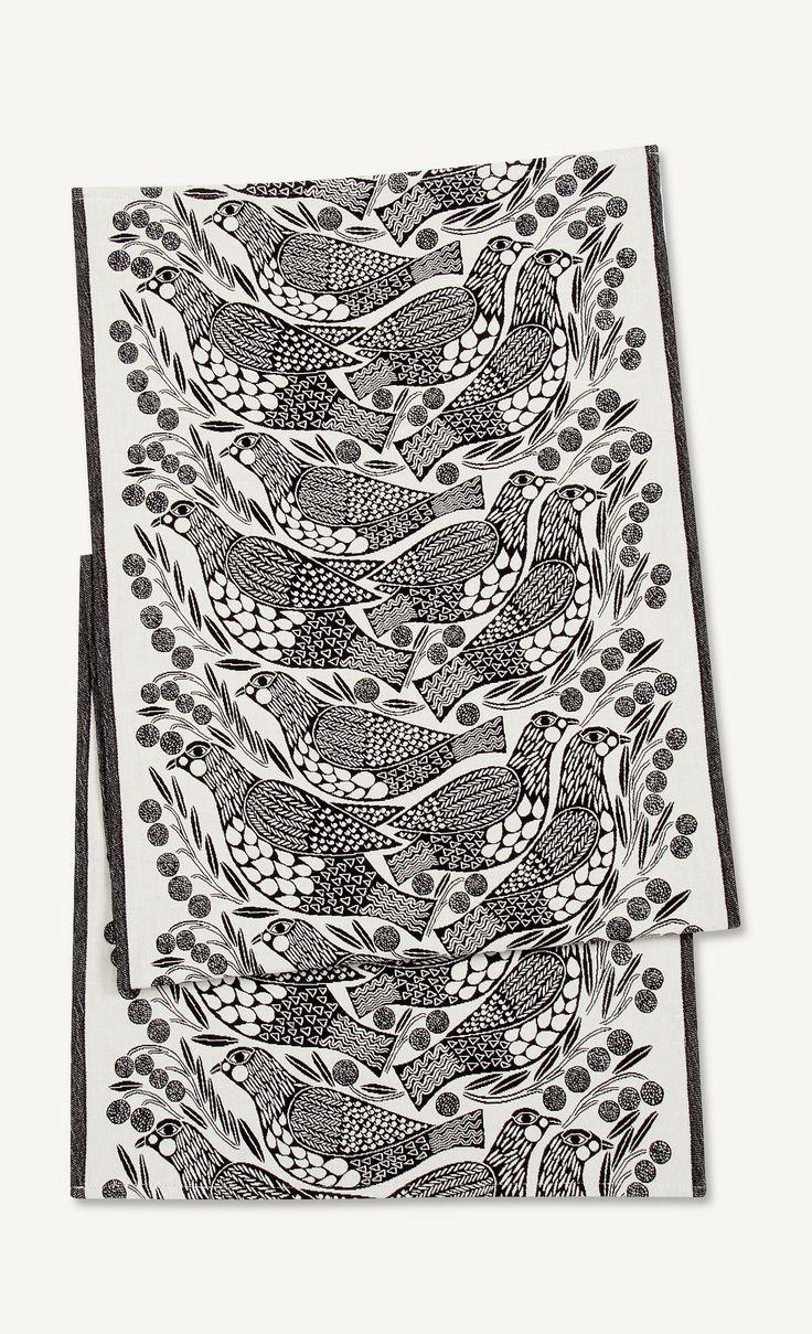 Kiiruna runner 47x150 cm - white, black - New in - Home - Marimekko.com