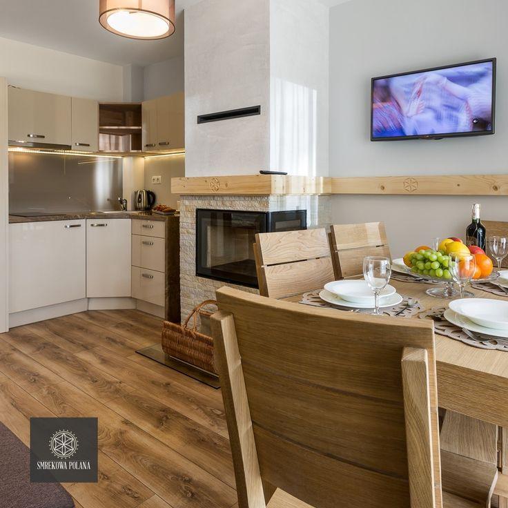 Apartament Śnieżny - zapraszamy! #poland #polska #malopolska #zakopane #resort #apartamenty #apartamentos #noclegi #livingroom #salon #kitchenette