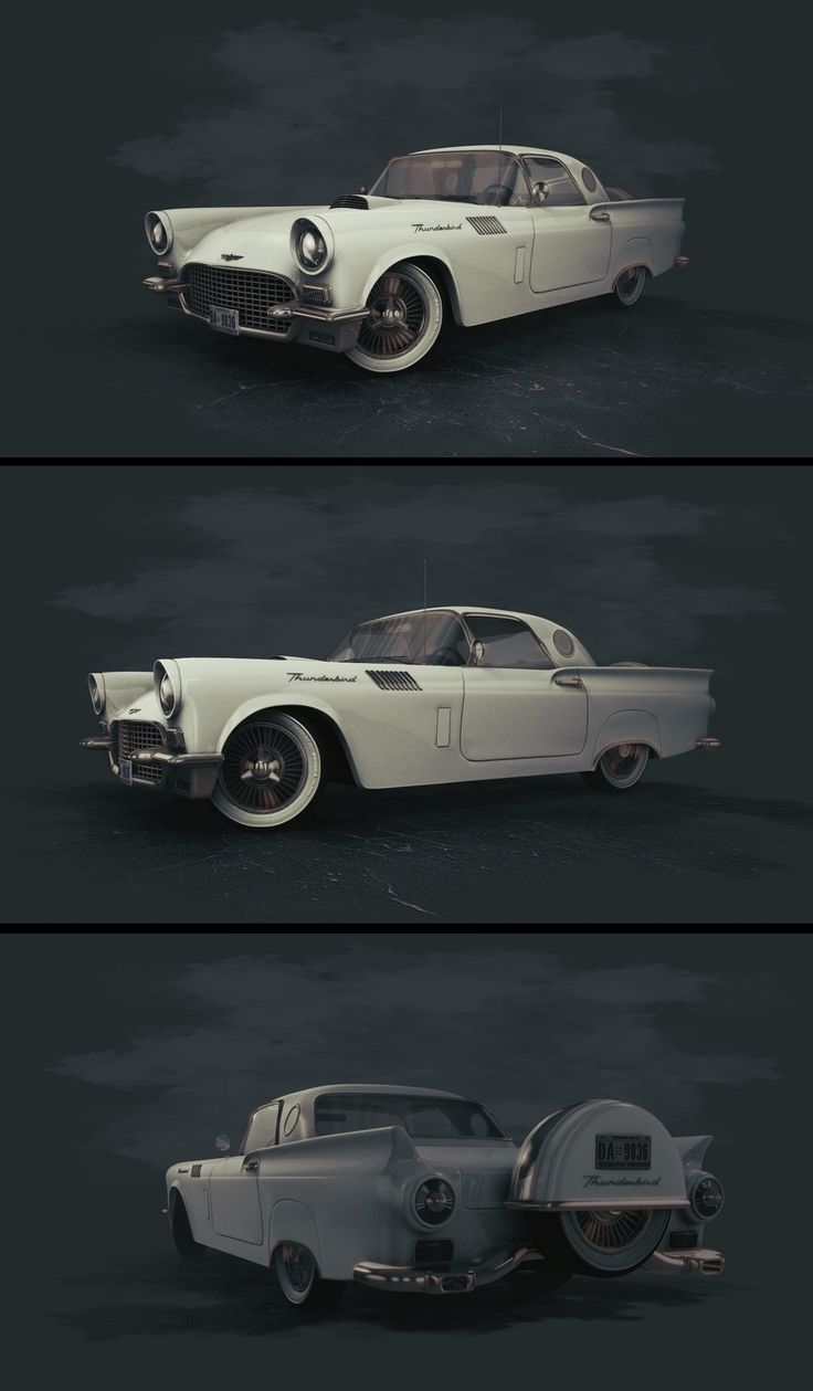 Ford Thunderbird Concept, zoltan miklosi on ArtStation at https://www.artstation.com/artwork/rYPQe