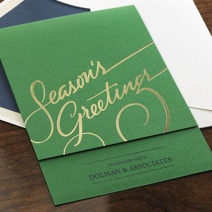 Season's Greetings eInvite Business Holiday Cards