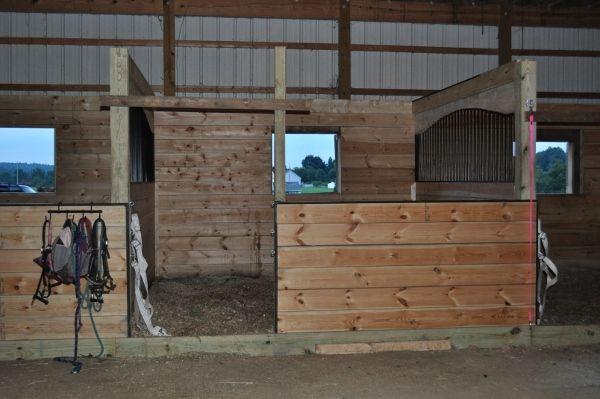 Building Custom Horse Stall fronts #horses #barn
