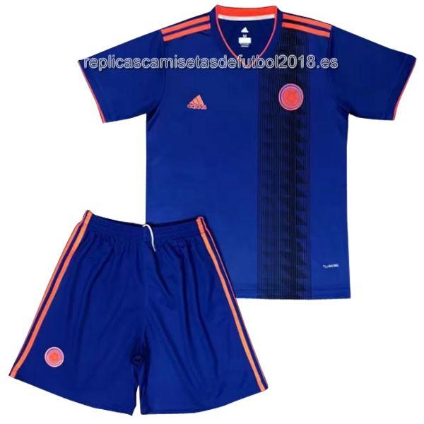 5c61b7d3b1610 Segunda Niños Replicas Conjunto Completo Camiseta Colombia 2018 ...