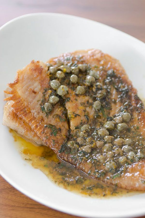 Skate with Browned Butter recipe from PBS Food