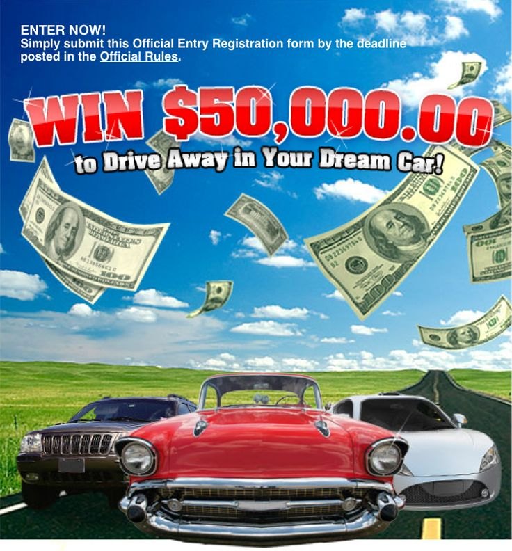 Do You Want to Win a New Car? Enter to Win $50,000 For A Dream Car Sweepstakes! I like my little black car. It gets me from Point A to Point B. The air conditioning works, there's a CD player so my...